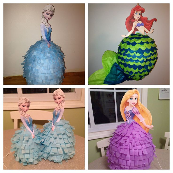 Disney Princess Pinata - Elsa, Anna, Rapunzel, Ariel and More! by BobbiGirlBoutique on Etsy https://www.etsy.com/listing/219901926/disney-princess-pinata-elsa-anna