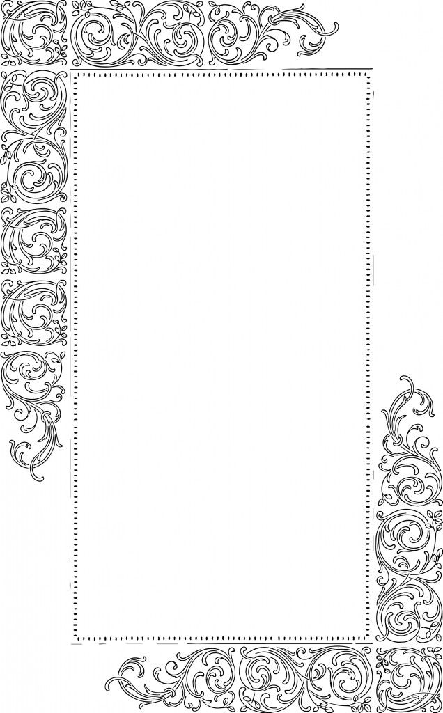 Free Vector Art – Fancy Vintage Borders, from Oh So Nifty Vintage Graphics