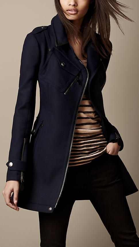 Short Technical Wool Trench Coat | Burberry