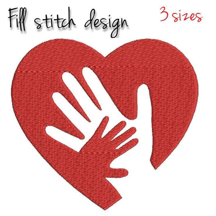 Embroidery Machine Designs Happy Mother's day Mom fingers heart Machine Digital instant Download pes files toewl in the hoop mammy