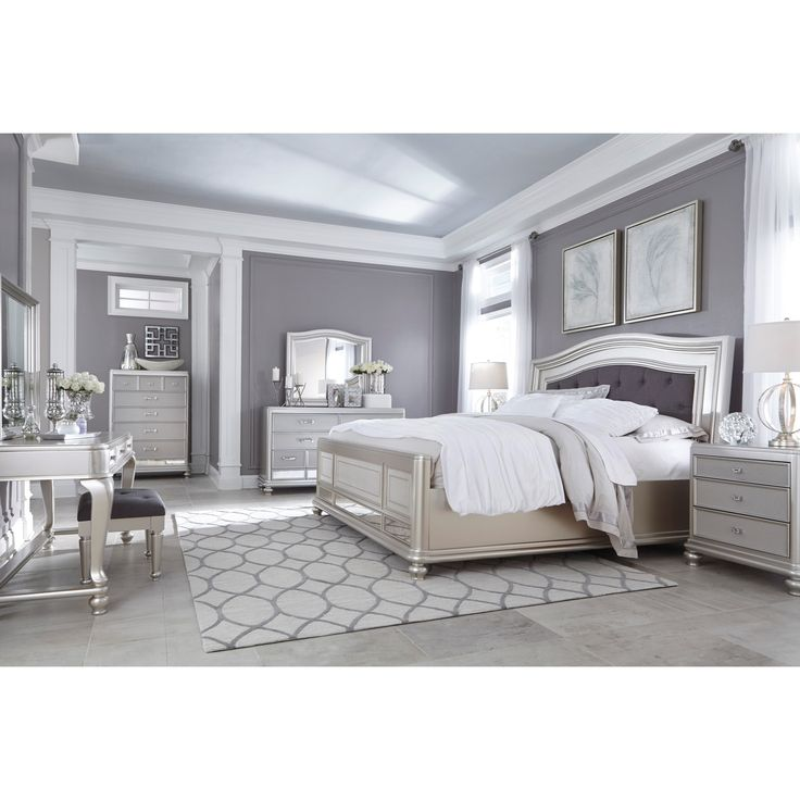 white king bedroom set canada gray sets antique wood