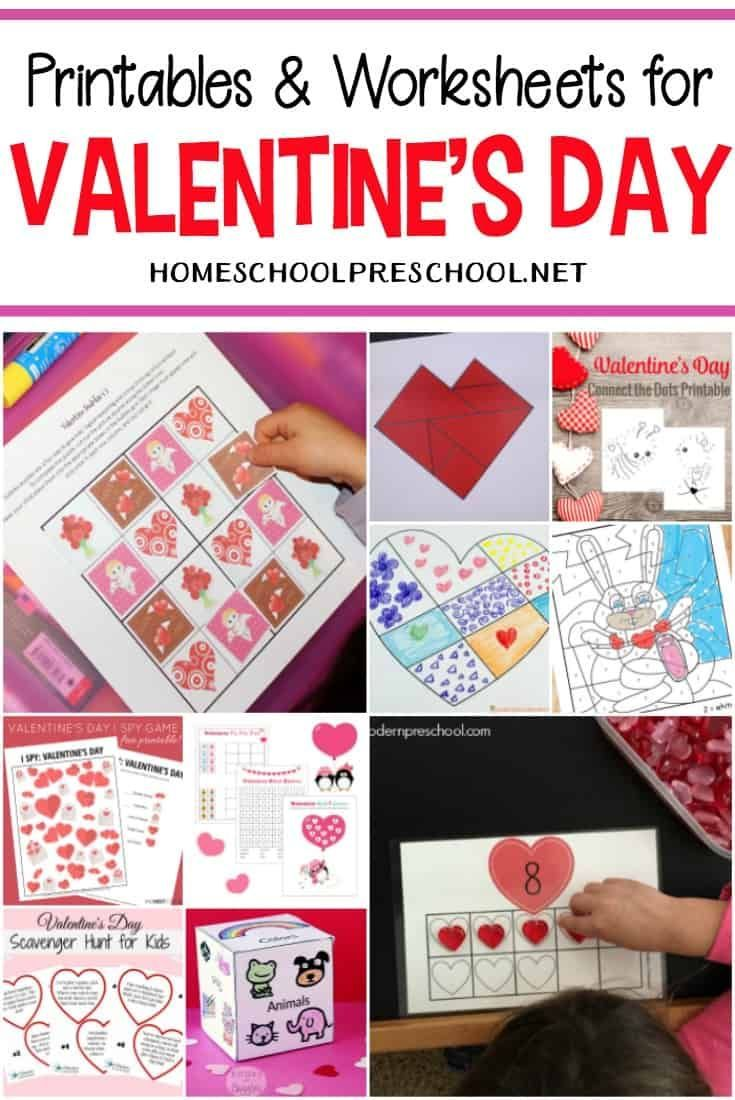 24 Free Printable Valentines Worksheets For Kids Valentine Worksheets Valentines Printables Free Valentines Printables