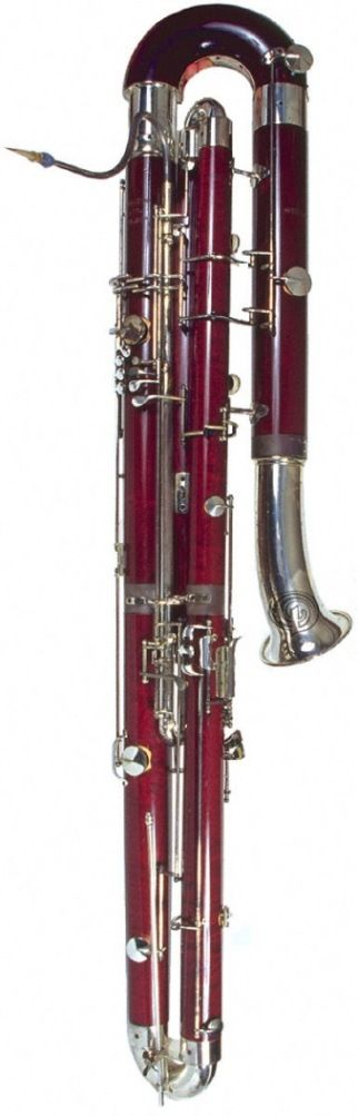 Contrabassoon - lowest woodwind instrument; used by Beethoven in his Symphony No. 5
