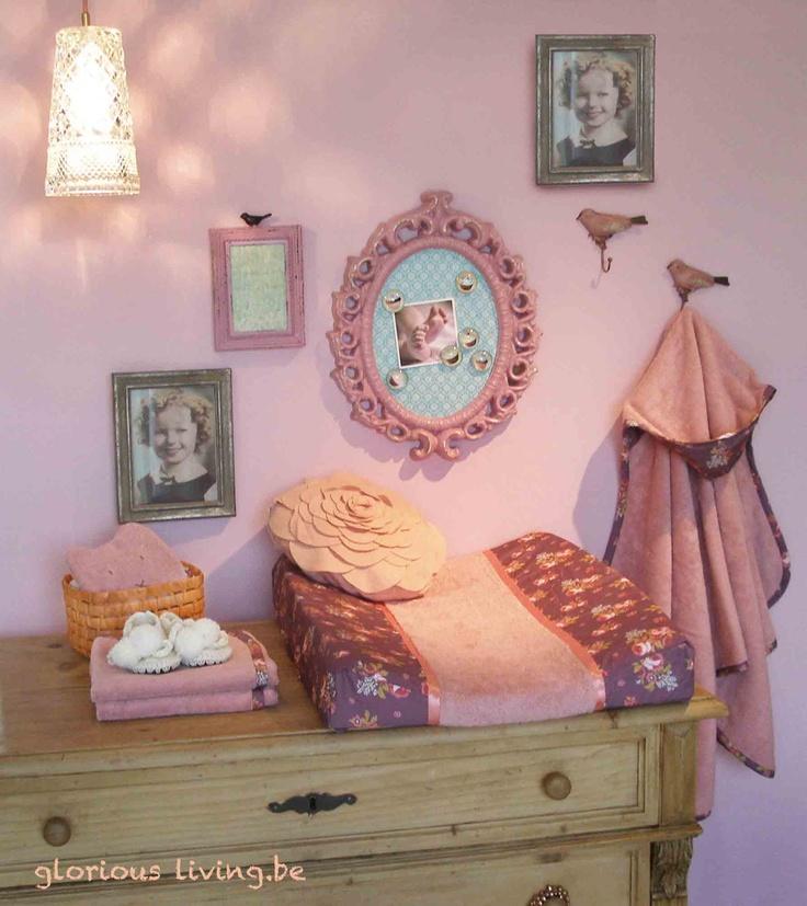 Romantische meisjeskamer babykamer in thema pretty plum pie van glorious lou baby en kinder - Deco romantische ouderlijke kamer ...