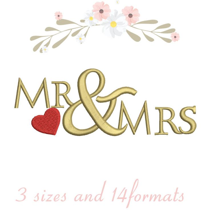 Mr. and Mrs. embroidery machine designs,wedding pattern,heart,merried by WeddingdesignStore on Etsy