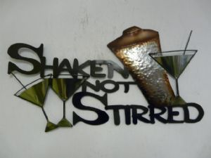 Contemporary Metal Wall Art Shaken Not Stirred Cocktail