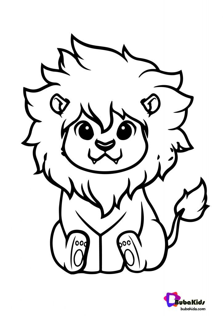 Cute Lion King Coloring Page Animal Free Coloring Pages For Kids Free Printable Coloring Pages Connec In 2021 Animal Coloring Pages Lion Coloring Pages Coloring Pages