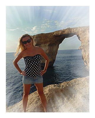 The most beautiful window in the world! #Azure Window in #Gozo, #Malta