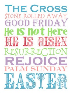Easter Subway Art - free printable in various colors