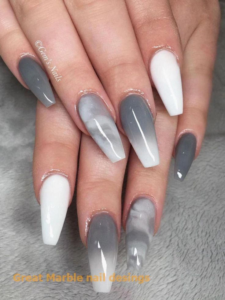 25 Marble Nail Design With Water Nail Polish 125 Marble Nail Design With Water Nail Polish 1 N In 2020 Marble Nail Designs White Acrylic Nails Ombre Nails