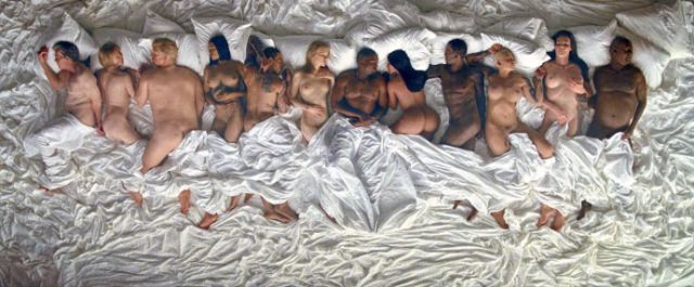 "Kanye West's ""Famous"" Video Includes Taylor Swift, Kim Kardashian, Donald Trump & More Naked in Bed"