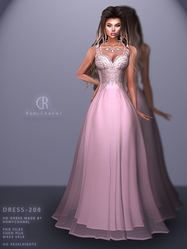 Rc Dress 208 Dresses Sims 4 Dresses Formal Dresses