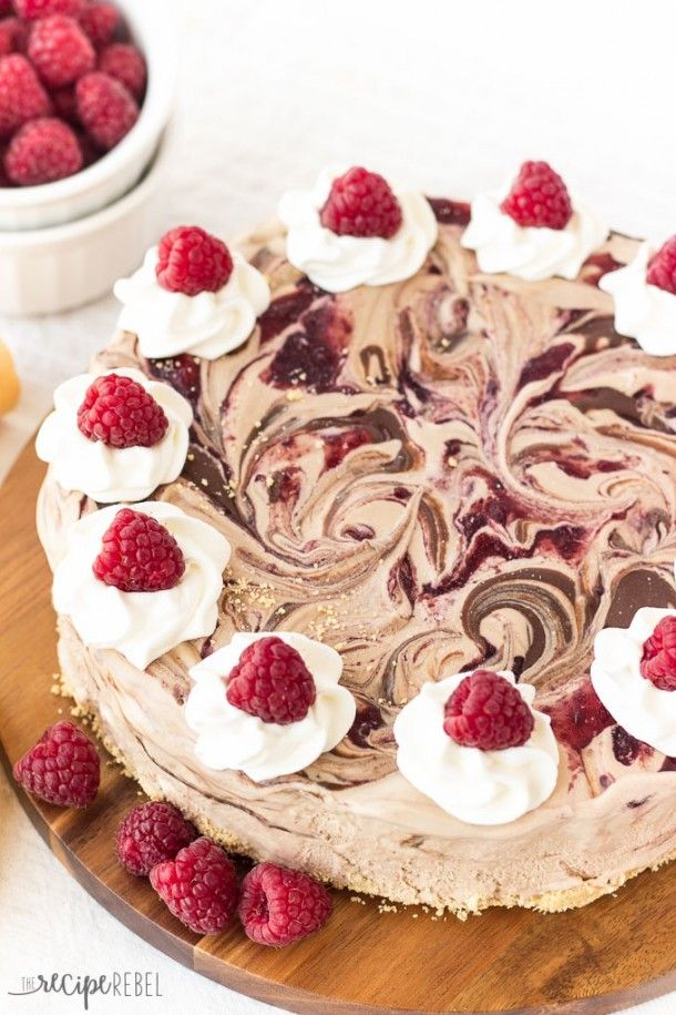 Homemade Raspberry Ice Cream Cake With Chocolate Crumb Crust Recipe ...
