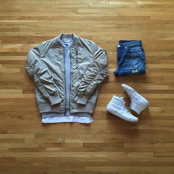 ユニクロコーディネート術格好良く着こなしたい方におすすめのMA-1ジャケットスタイル