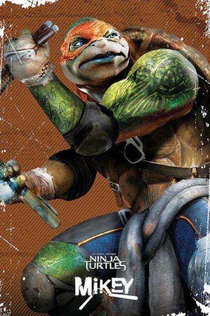 Wojownicze żółwie ninja (Michelangelo) - plakat - 61x91,5 cm  Gdzie kupić? www.eplakaty.pl