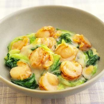 帆立とチンゲンサイの豆乳煮 | 吉田瑞子さんの煮ものの料理レシピ | プロの簡単料理レシピはレタスクラブネット