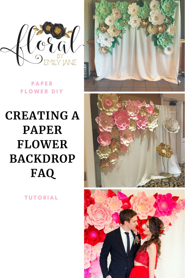 Have A Bunch Of Questions On How To Make A Paper Flower Backdrop
