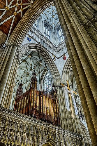 York Minster, York, England  Visited once during the Viking Festival, would like to return.