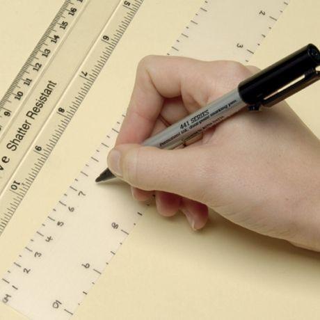 Shrink plastic ruler gauge