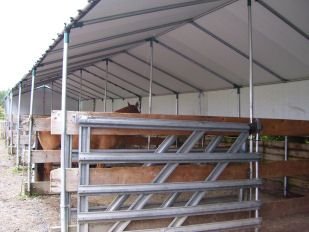 HisCoShelters.com, Photo Gallery Temporary Portable Garage Carport All Weather-Shield Shelter Logic Canopies Covers tension fabric storage building supplier
