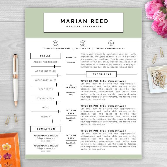 9 best Monogram Resume Templates images on Pinterest Resume - Your Resume