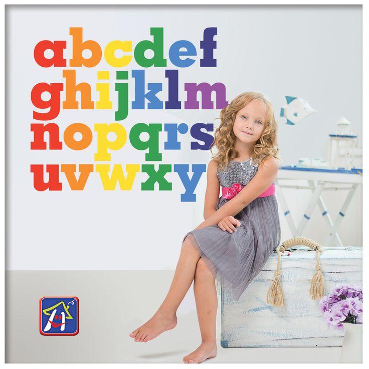 Rainbow Alphabets Wall Decals   Alphabets Vinyl Decals   Alphabet Stickersu2026