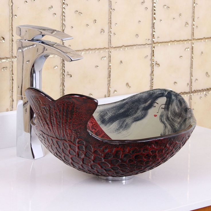This elegant product from Elite features a brand new design from Europe. This mermaid ivy tempered glass sink will look fabulous in any bathroom. Brand new technology brings you modern, smooth design.