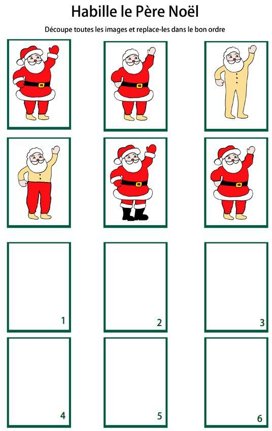 Fabriquer un jeu de suite logique sur le Père Noël