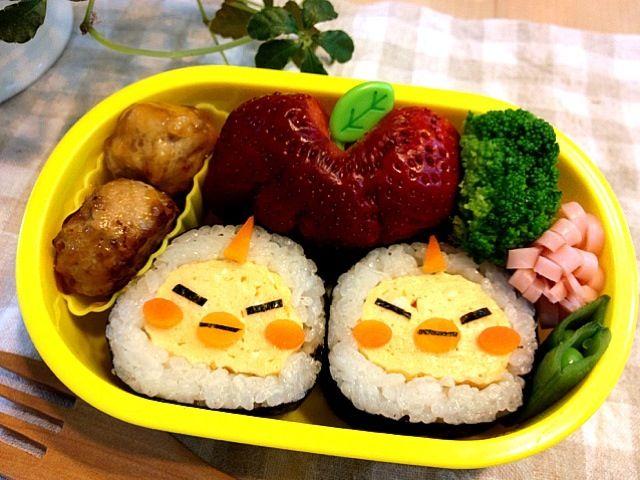昨日の下の子の巻き寿司を使用 - 121件のもぐもぐ - 小鬼トリオのキスケ弁当 by kanatanmama