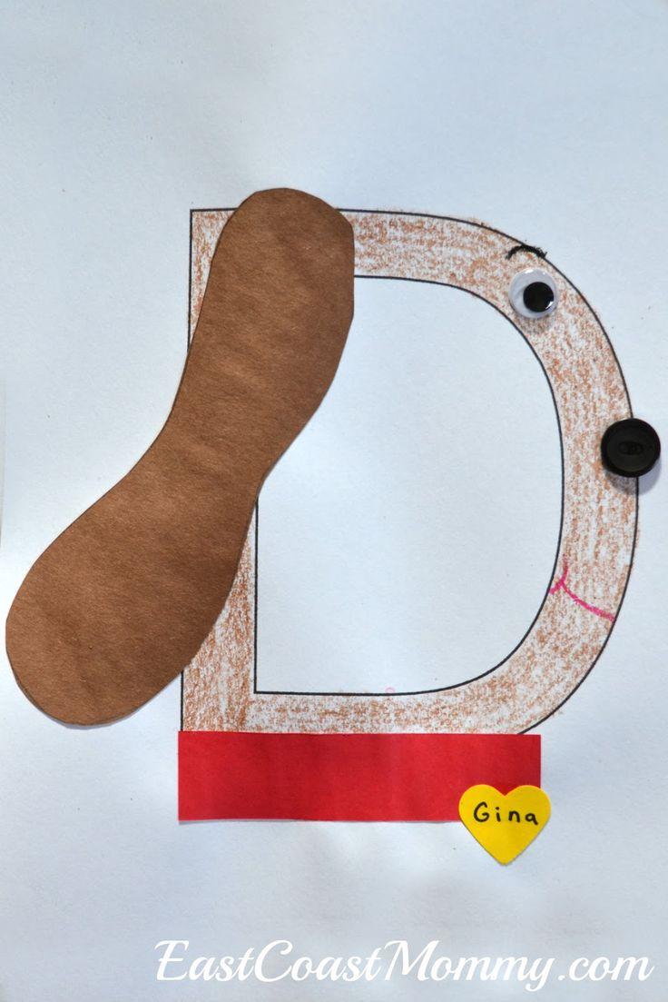 Letter D dog... and other darling letter d crafts for preschoolers.