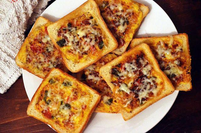 Frământări la cuptor: Felii de paine umplute cu legume
