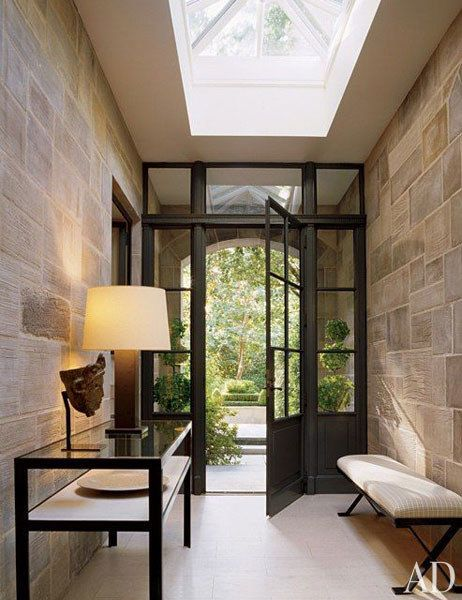 Skylighted family entrance to a Dalla house . AD's 50 Most Popular Pins of 2013 | Architectural Digest