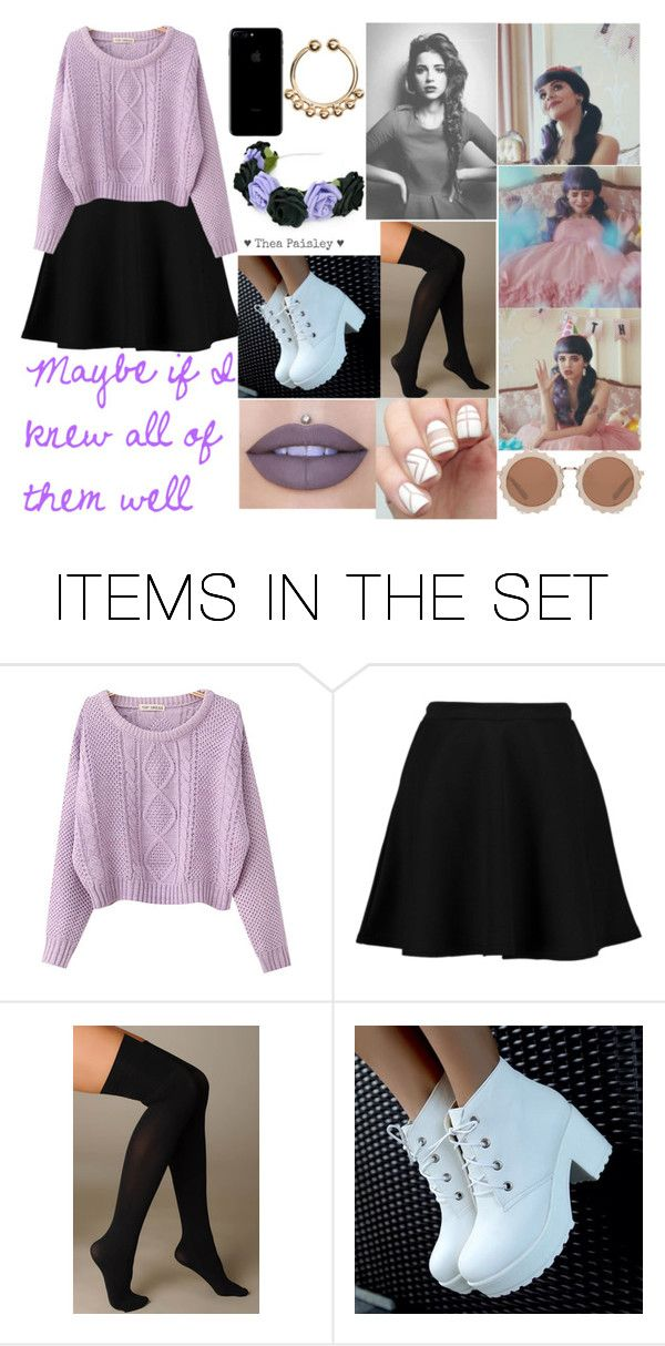 """Pity Party Melanie Martinez Inspired Outfit!!!!"" by myaglynn ❤ liked on Polyvore featuring art"