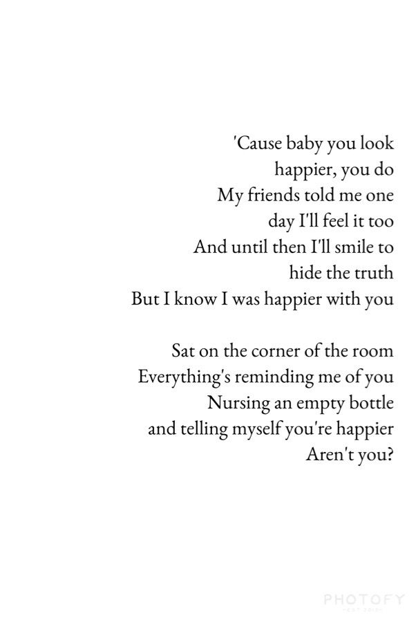 Ed Sheeran - Happier... Not gonna say much about the song because its pretty much what ive said before. Beautiful and simple