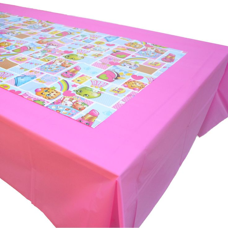Make An Amazing Shopkins Party Table With This Table Cover Paper Sheets Set