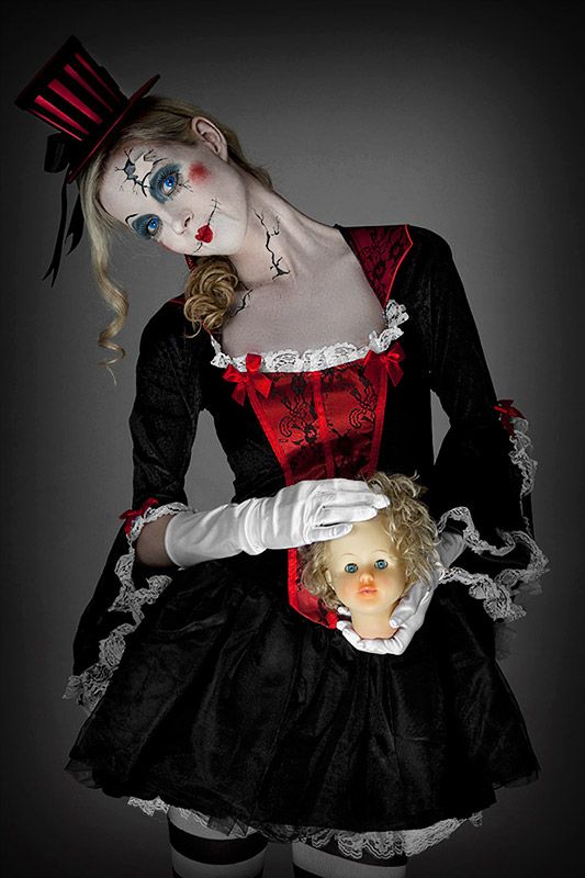 Halloween-Schminkanleitung Broken Doll