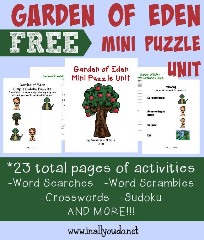 Garden Of Eden Writing Activities Puzzles