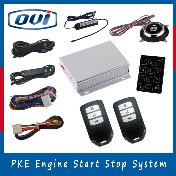 OVI Car alarm system auto start push button keyless go system smart start stop engine button,engine start stop system