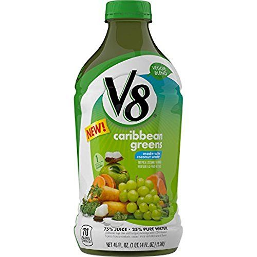 V8 Veggie Blend, Caribbean Greens, 12 Ounce (Pack of 12) >>> Click on the image for additional details.