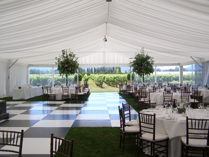 Dance Floor inside our Marquee
