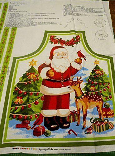 Nostalgic Christmas Santa Apron Cotton Quilting Panel Fabric -Sugar & Spice Sugar & Spice Textiles http://www.amazon.co.uk/dp/B00NLAENCC/ref=cm_sw_r_pi_dp_CDUfub02WWDTE