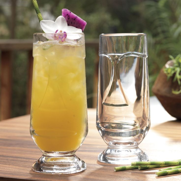 When you can't make it to the islands for tropical cocktails this Summer, just drink them from one of these cool new Tiki Cocktail Glasses at a home luau instead.