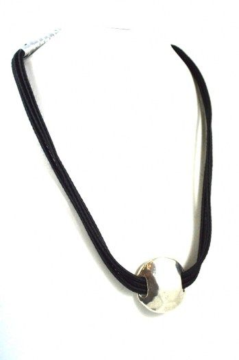 Cocoon Short Necklace made up of black satin cord embellished with silver charm. Total length approx. 50 cm. Gift box. Sales price: 17,90 € find it @ http://www.freeartstyle.com