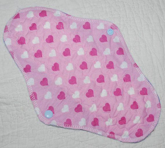 Heart clothpad, night