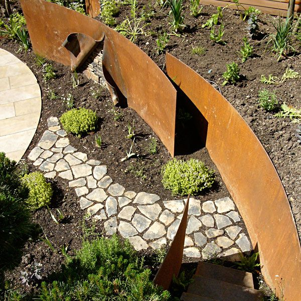 Ian Kitson Landscape architect - would like to see this with mature plants.: 2015 Ideas, Ass Gardens, Landscape Architects, Based Gardens, Architecture Landscape, Architects Corten, Corten Steel, Charter Landscape, Kitson Landscape