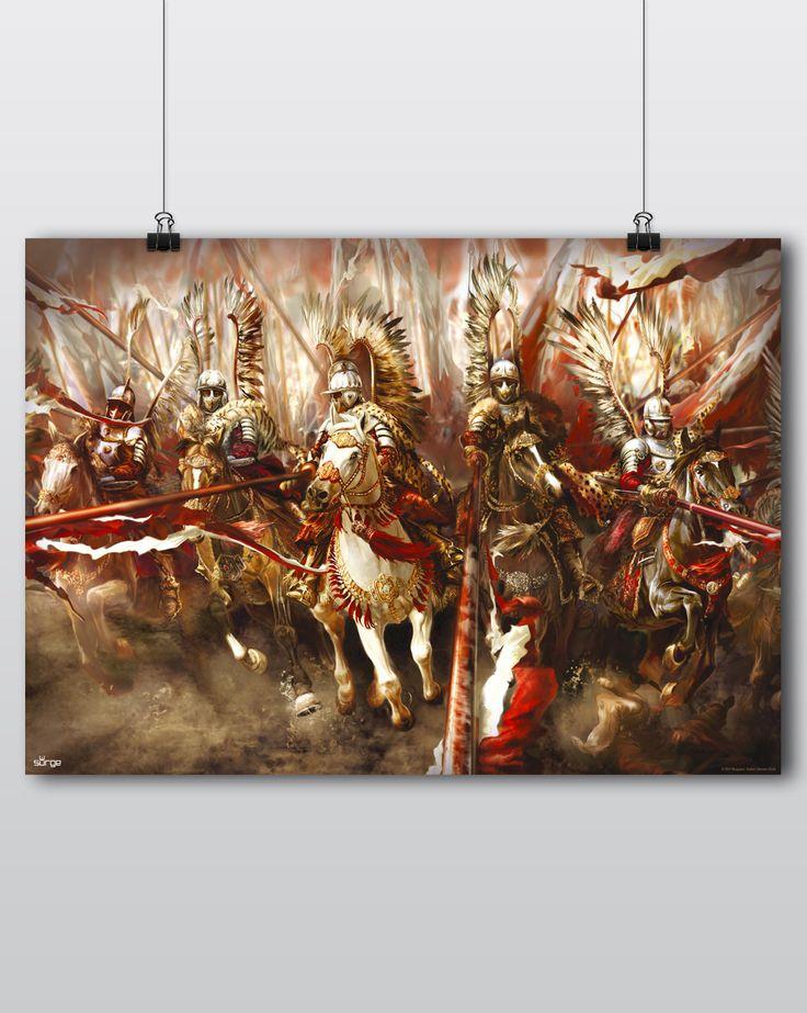 Plakat patriotyczny Husaria. Ogniem i mieczem. Sklep z koszulkami Polski i odzieżą patriotyczną ● Surge Polonia Przepnij pina! Pomóż nam promować ideę nowoczesnego patriotyzmu!