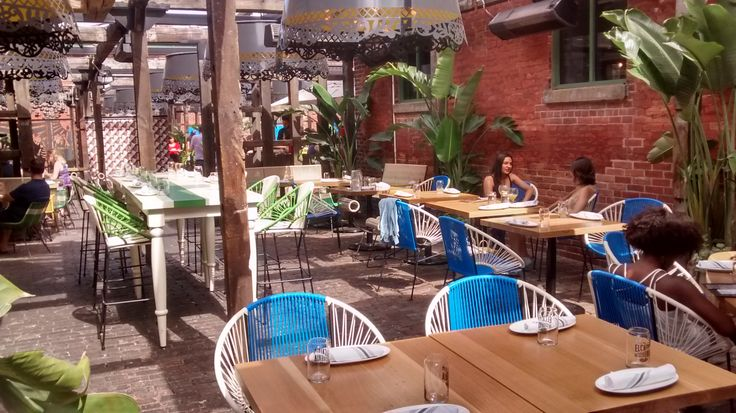 Check out our gorgeous two toned Concha dining chairs at El Catrin in the distillery district Toronto.