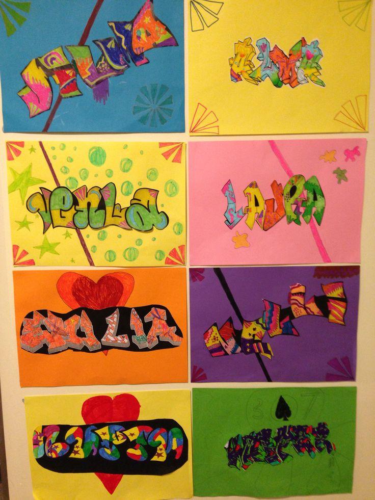 Graffitti - oma nimi, 4.lk, tussityö