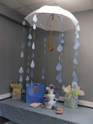 Best 25 rain baby showers ideas only on pinterest for Baby shower door decoration