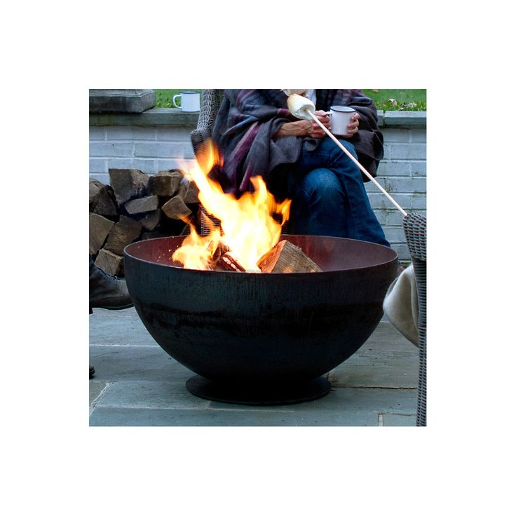 Bowl fire pit the natural furniture and good ideas for Fire pit bowl ideas